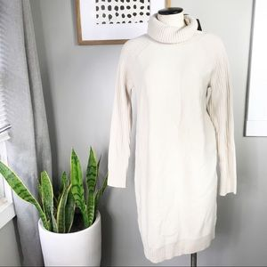 Tommy Bahama cream cashmere blend sweater dress M